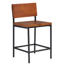 See Details - Counter Stool - Java Pine Finish