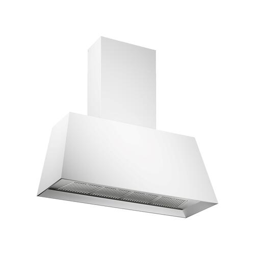 48'' Contemporary Canopy Hood, 1 motor 600 CFM Matt White