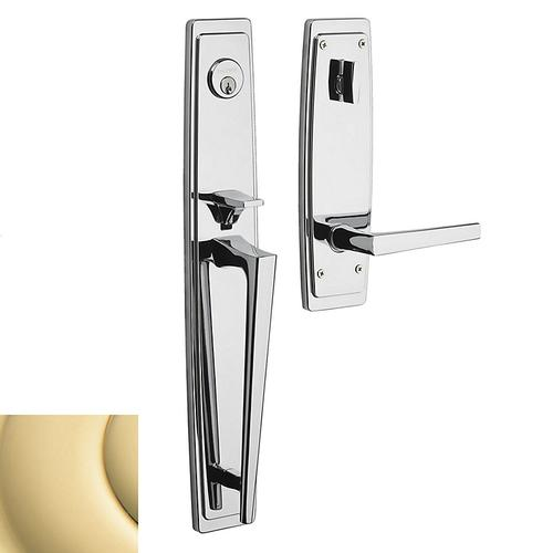 Non-Lacquered Brass Palm Springs Full Escutcheon Handleset