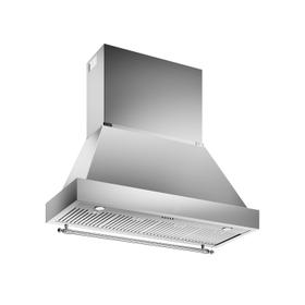 48 Wallmount Canopy and Base Hood, 1 motor 600 CFM Stainless Steel