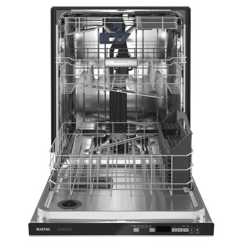 Maytag - Top control dishwasher with Third Level Rack and Dual Power filtration