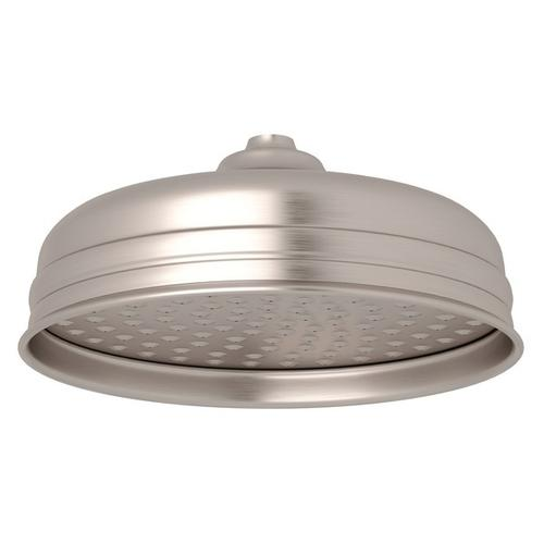 "Satin Nickel Perrin & Rowe 8"" Rain Showerhead"