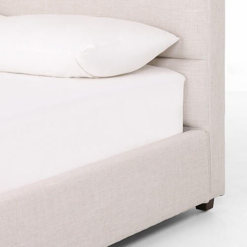 Queen Size Cambric Ivory Cover Daphne Bed