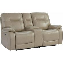 See Details - AXEL - PARCHMENT Power Console Loveseat