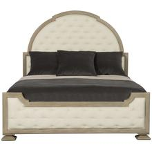 Queen Santa Barbara Upholstered Tufted Panel Bed in Sandstone (385)