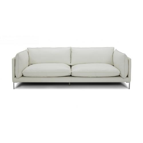 VIG Furniture - Divani Casa Harvest - Modern White Full Leather Sofa
