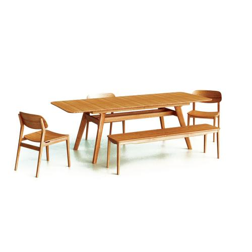 """Greenington Fine Bamboo Furniture - Currant 72 - 92"""" Extendable Dining Table, Caramelized"""
