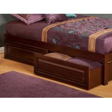 Two Raised Panel Bed Drawers Queen/King in Walnut