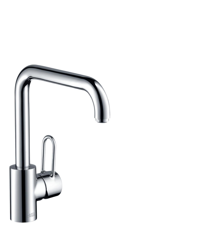 Chrome Single lever kitchen mixer 230 with swivel spout