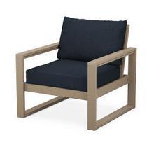 EDGE Club Chair in Vintage Sahara / Marine Indigo
