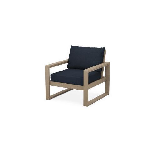 Product Image - EDGE Club Chair in Vintage Sahara / Marine Indigo