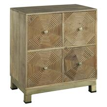 2-7928 Drawer Chest with Carved Octagon Pattern