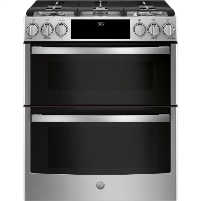 """30"""" Smart Slide-In Front-Control Gas Double Oven Convection Range"""