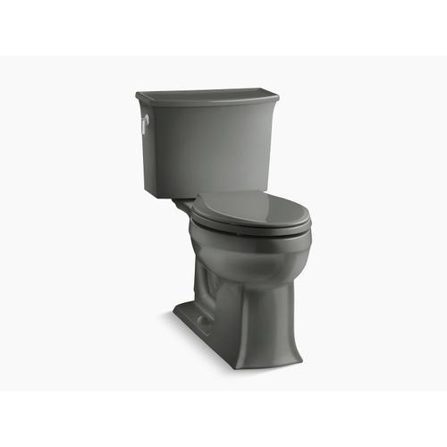 Thunder Grey Two-piece Elongated 1.28 Gpf Chair Height Toilet