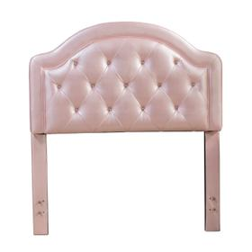 Karley Complete Full-size Headboard Set, Pink Faux Leather