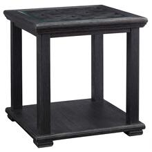See Details - Tyler Creek Rubbed Black Square End Table