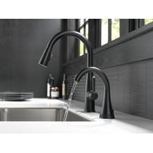 Matte Black Transitional Beverage Faucet with Touch 2 O Technology