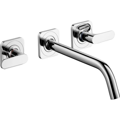 Chrome Wall-Mounted Widespread Faucet Trim, 1.2 GPM