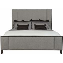 California King Linea Upholstered Panel Bed in Cerused Charcoal (384)