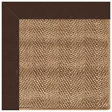 "View Product - Islamorada-Herringbone Canvas Bay Brown - Rectangle - 24"" x 36"""