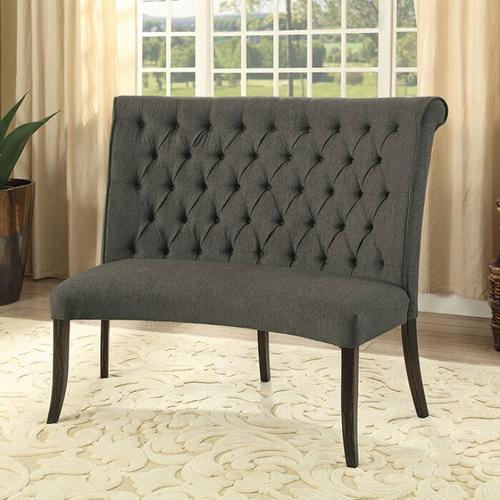 Furniture of America - Nerissa Round Love Seat Bench Fabric