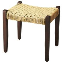 See Details - This understated stool is a welcome addition to virtually any space. Its legs and seat frame are sturdily crafted from mango wood solids, and it features a durable jute rope seat in a basket weave pattern. Blending modern lines with a touch of rustic ambiance, it is stylishly functional in almost any decor.