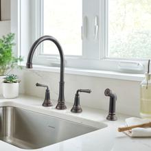 Delancey Widespread Kitchen Faucet  American Standard - Legacy Bronze