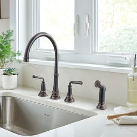 Delancey Widespread Kitchen Faucet  American Standard - Legacy Bronze