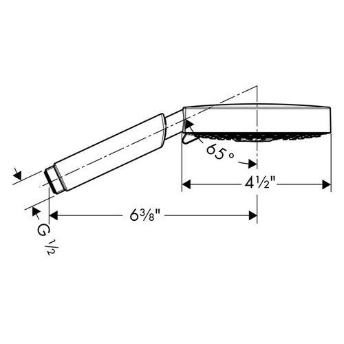 Chrome Handshower 120 3-Jet, 2.5 GPM