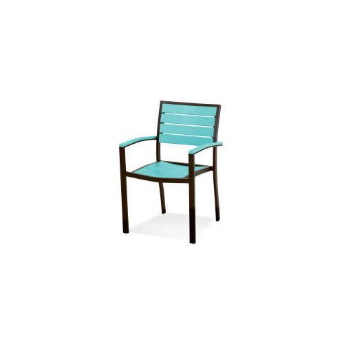 Polywood Furnishings - Eurou2122 Dining Arm Chair in Textured Bronze / Aruba