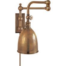 View Product - E. F. Chapman Pimlico 28 inch 60.00 watt Antique-Burnished Brass Swing-Arm Wall Light