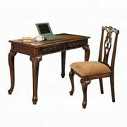 ACME Aristocrat 2Pc Pack Desk & Chair - 09650 - Dark Brown Cherry Product Image
