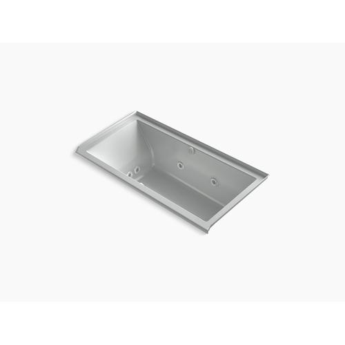 """Ice Grey 60"""" X 30"""" Heated Bubblemassage Air Bath With Whirlpool, Alcove, Right Drain"""