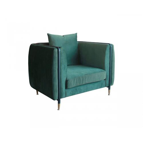 VIG Furniture - Divani Casa Jebel - Modern Dark Green Jade Accent Chair