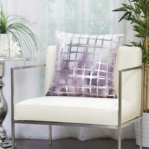 "Luminescence Qy267 Lavender 20"" X 20"" Throw Pillow"