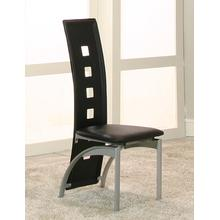 Valencia Black Side Chairs 2pk