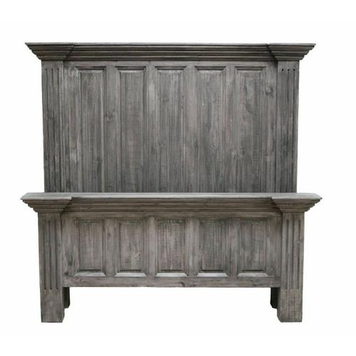 Million Dollar Rustic - Charcoal Gray Queen Coliseo Bed