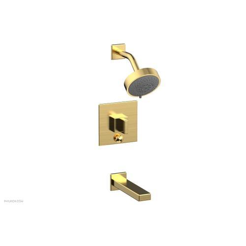 MIX Pressure Balance Tub and Shower Set - Blade Handle 290-26 - Satin Gold