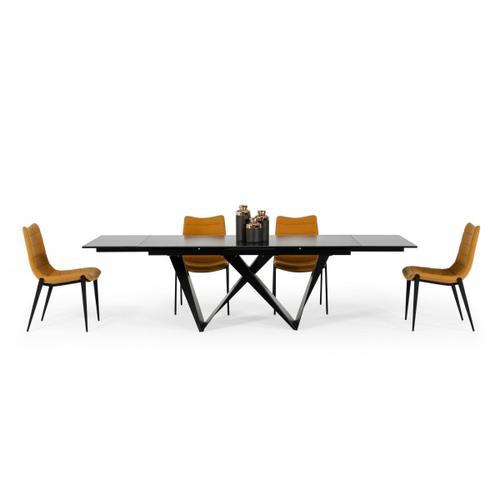 Gallery - Modrest Fritz - Modern Black Ceramic Dining Table
