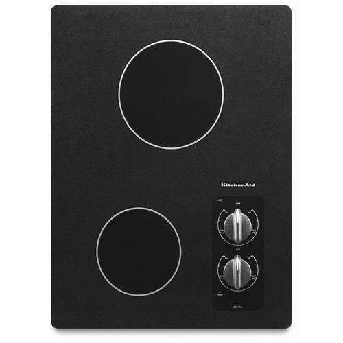 """Gallery - 15"""" Electric Cooktop with 2 Radiant Elements - Black"""