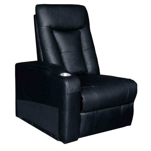 See Details - Pavillion Black Leather Element Recliner