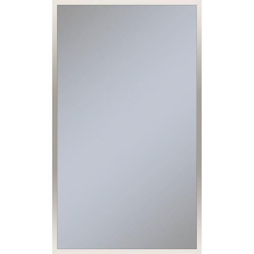 "Profiles 23-1/8"" X 39-1/4"" X 3/4"" Framed Mirror In Polished Nickel"