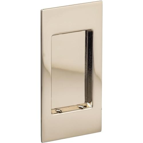 Modern Rectangular Flush Cup in (US14 Polished Nickel Plated, Lacquered)