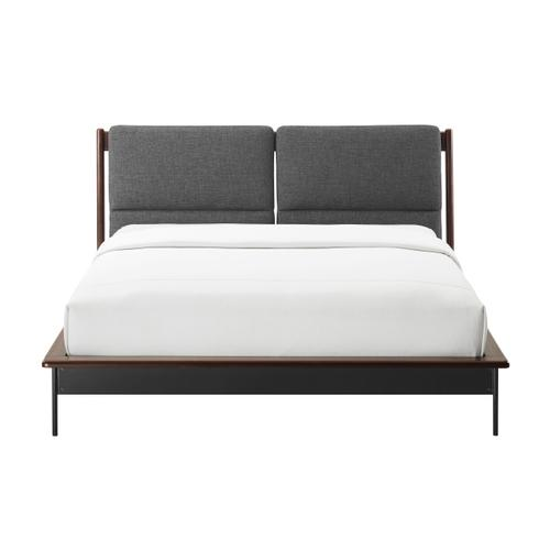 Greenington Fine Bamboo Furniture - Park Avenue Queen Platform Bed with Fabric, Ruby