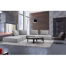 View Product - Divani Casa Nolden - Modern Grey Fabric Modular Sectional Sofa
