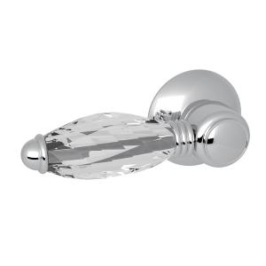 Polished Chrome Universal Italian Tank Lever Trip Arm with Crystal Lever Product Image