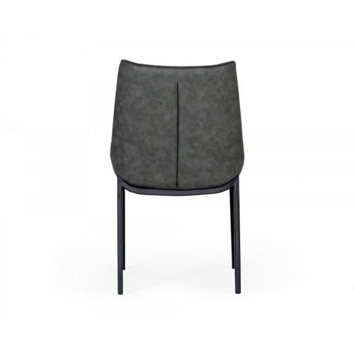 VIG Furniture - Modrest Roz - Modern Grey Leatherette Dining Chair (set of 2)