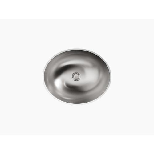 Drop-in/undermount Bathroom Sink With Luster Finish, No Overflow