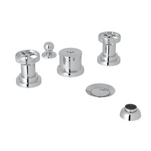 Polished Chrome Campo Five Hole Bidet Faucet with Metal Campo Wheel Product Image