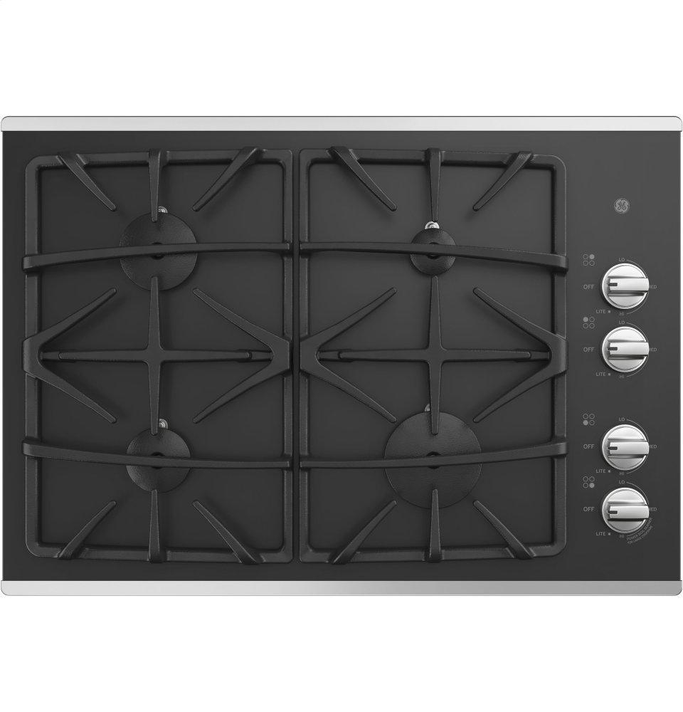 """GEGe® 30"""" Built-In Gas On Glass Cooktop With Dishwasher Safe Grates"""